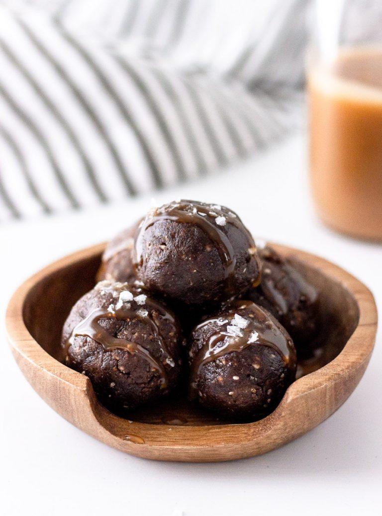 no bake chocolate brownie energy balls