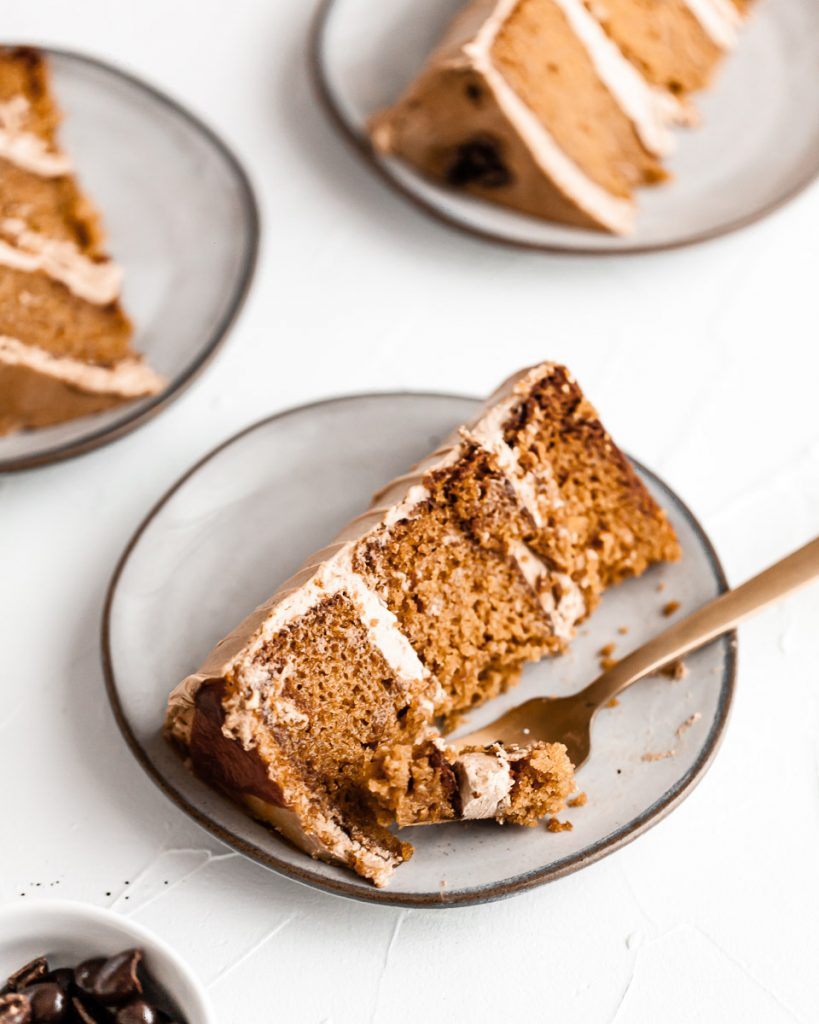 slice of pumpkin cake