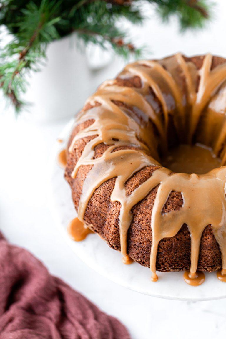 brown butter bundt cake with glaze
