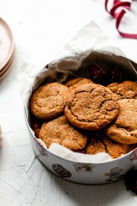 ginger molasses cookies with eagle brand milk