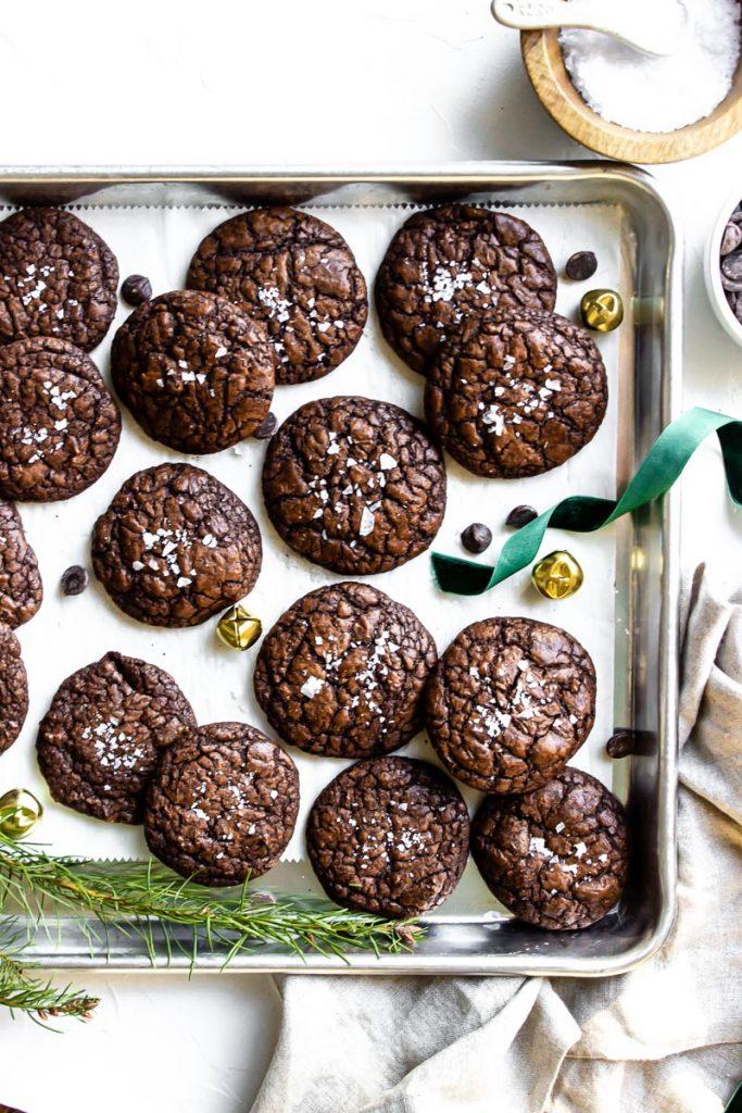 salted espresso brownie cookie
