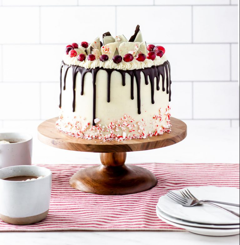chocolate peppermint bark cake