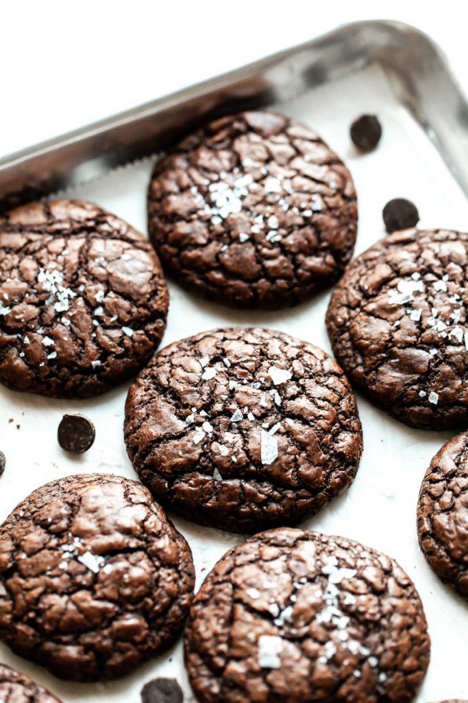 salted espresso brownie cookies
