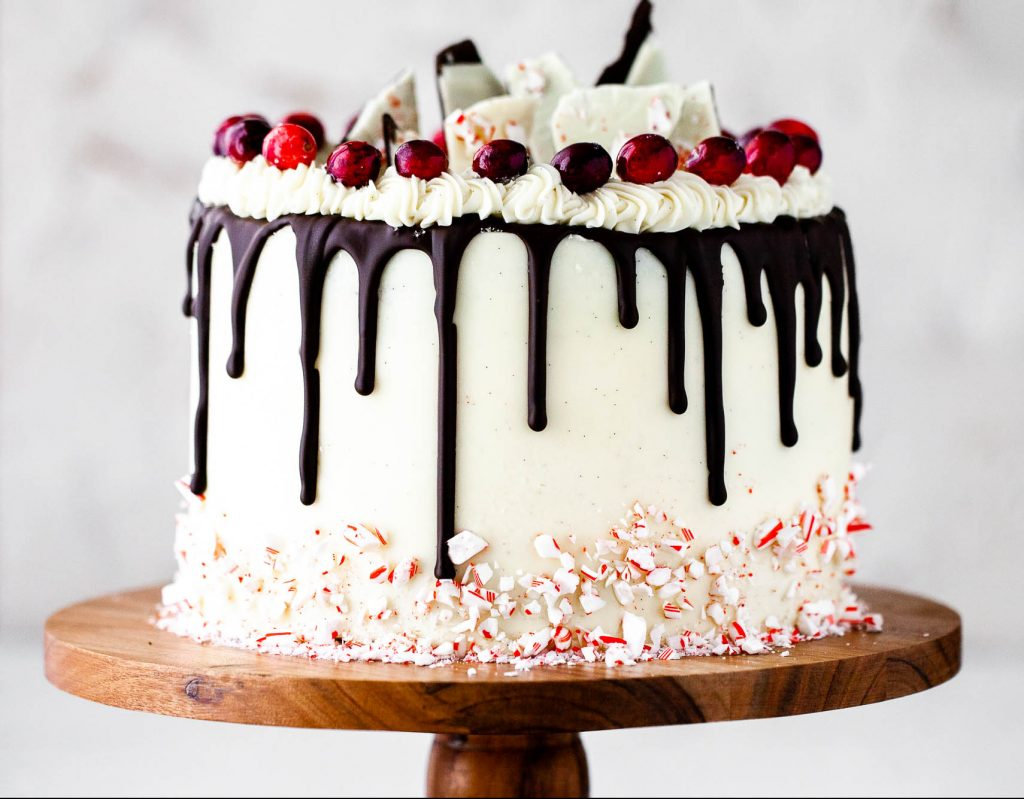chocolate peppermint bark cake