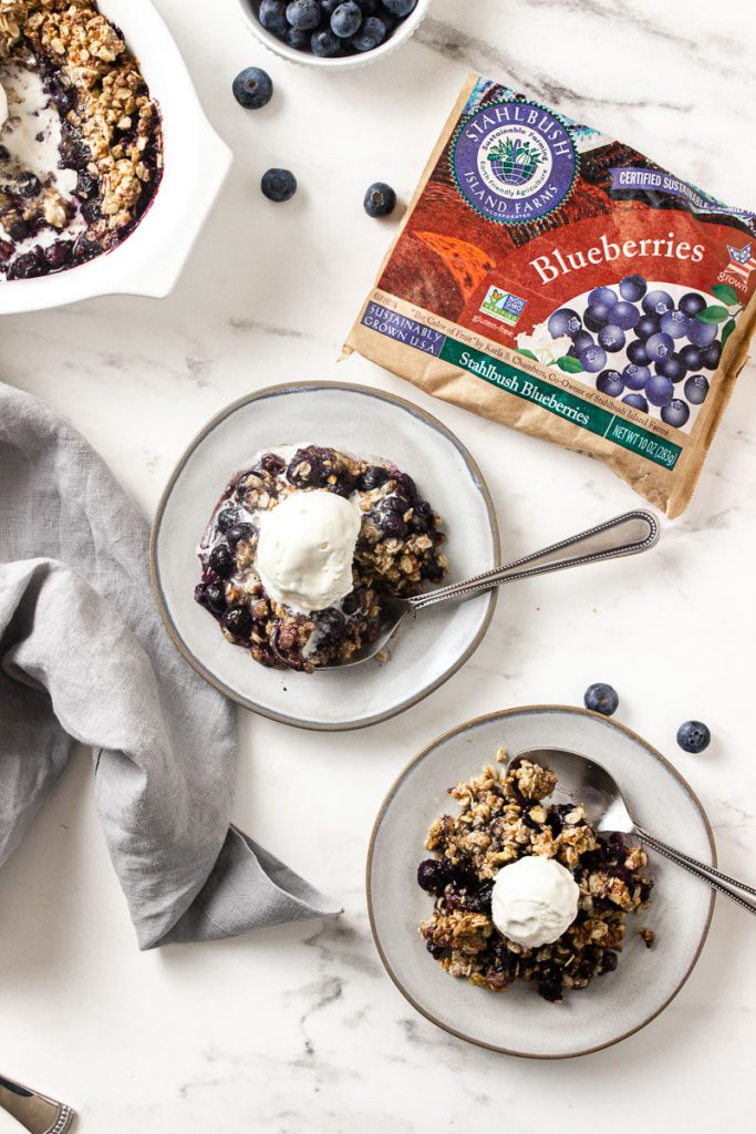 stahlbush farms frozen blueberry crisp